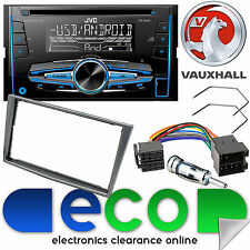Vauxhall Signum 2003-05 & JVC CD MP3 USB Aux Car Stereo Grey Fascia Fitting Kit