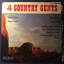 EP Various 4 Country Gents Jimmy Dean  Rex Allen Webb Pierc UK Bravo! Label  VG-