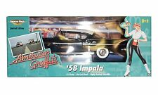 ERTL 36604 AMERICAN GRAFFITI '58 IMPALA - BLACK -1:18 SCALE DIE CAST COLLECTIBLE