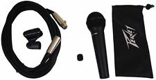 Peavey PVI100XLR Wired Dynamic Cardioid Vocal Microphone+Case+Mic Clip + Ca