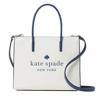 NWT KATE SPADE NEW YORK Trista Leather Shopper Shoulder White WKR00385 FREE SHP