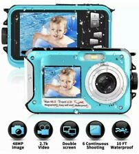 Waterproof Camera Underwater Camera 10 FT 2.7K Full HD 48MP 16X Digital Zoom
