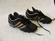Adidas Acuna Youth Athletic Cleats - Black & Gold Striped - Size 3