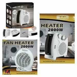 Fan Heater Electric Portable Air Heating Hot 2kw 240v Upright 2000w Flat Small
