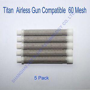 Titan Airless gun filter 60 mesh (5 pack), airless spray gun filter
