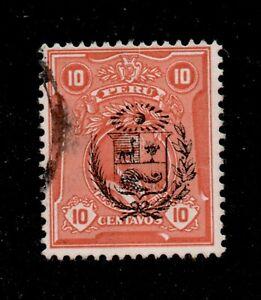 Peru Scott 268 Augusto Leguia Overprinted 1930 orange red Used