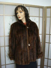 Mint Canadian Natural Plain Muskrat Fur Jacket Coat Women Woman Sz 10-12 Medium