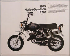 1973 Harley-Davidson ORIGINAL X-90 Trail Brochure Xlnt 73