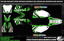 Kawasaki KX 125 KX 250 94-98 Slasher Graphics kit with your number on plates!
