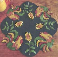 Good Morning Roosters applique candle mat quilt pattern  Cath's Pennies Designs