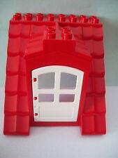 LEGO DUPLO 5639 10505 Familienhaus 4 x rote Dächer / Dach mit weißer Tür NEU