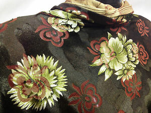*SPECIAL OFFER* Top Quality Burnout Velvet In Floral Print Dress/Crafts Fabric