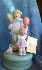 """Vintage WILLITTS DESIGNS Tender Moments by Carol Bryan MUSIC BOX  """"Be a Clown"""""""