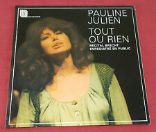 PAULINE JULIEN LP ORIG FR TOUT OU RIEN RECITAL BRECHT