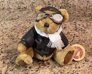 Brass Button RADAR Pilot Bear with Aviator Goggles Pickford Bear of Long Life