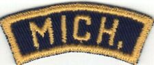 CUB SCOUT MICHIGAN (MICH.) BGS BLUE AND GOLD STATE STRIP WITH YELLOW BACK STITCH