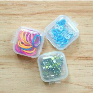 1Pcs MINI CLEAR PLASTIC Small Box Jewelry Storage Organizer