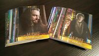 Hobbit Desolation of Smaug Silver Foil Parallel Card Lot of 42 with Dupes