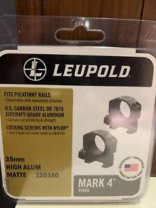 Leupold Mark 4 35mm Aluminum Scope Rings - Matte Black