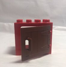 Lego Duplo Window Red Panel Brown Swing Door Barn Gate Door