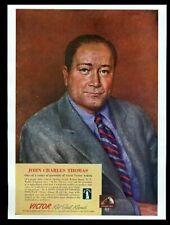 1943 John Charles Thomas portrait Victor Records vintage print ad