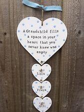 Personalised plaque Fathers Day gift present nanny Mum Grandchildren grandparent