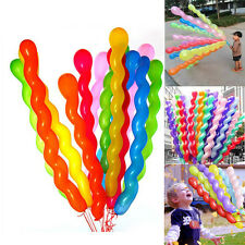 10pcs Colorful Spiral Latex Balloons Wedding Kids Birthday Party Decoration