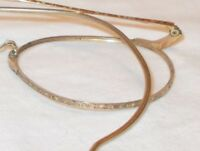 Vintage Antique Yellow Gold Filled Round Wire Rim Eyeglass Frames Etched