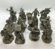 """Vintage Full Set Of 12 Franklin Mint """"The Cries Of London"""" Pewter Figurines 1977"""