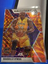 2019-20 Panini Mosaic Shaquille O'Neal Hall of Fame Reactive Orange Prizm LAKERS