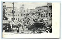 Postcard Amsden Building, South Framingham MA Soon After Collapse circa 1906 G28