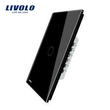 Livolo Us Standard Wall Touch Switch 1Gang 1Way with Crystal Glass Panel Black