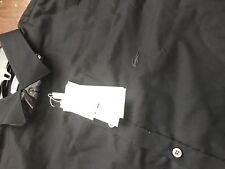 New Lacoste Men's Long Sleeve Spread Solid Stretch Poplin Slim Fit 44 171/2 $110
