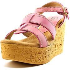 Sandalias con tiras de mujer de color principal rosa de piel