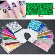 50Pcs Foils Finger DIY Nail Art Sticker Decal Water Transfer Stickers Tips Decor
