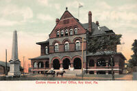 Custom House & Post Office, Key West, Florida, Early Postcard, Unused