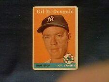 1958 TOPPS#20 GIL MCDOUGALD WHITE NAME NICE CARD