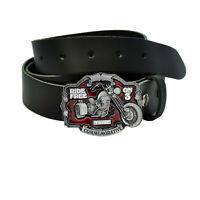 taille 32 Inch-Ceinture Cuir Marron Harley-Davidson LODIS Freedom Machine Brown