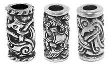 Three beard Beads - Jorvik Beast, Odins Raven, Viking Dragon - Celtic Hair