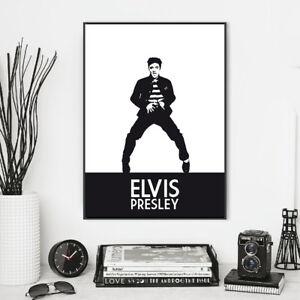 ELVIS Poster | Minimalist Style Art print | Size: 42 x 29.7 cm (A3)