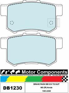 BRAKE PADS DB1230 TO SUIT MG ZR,Honda 1993-2008