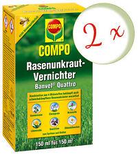 Sparset: 2 x COMPO Rasenunkraut-Vernichter Banvel® Quattro, 150 ml