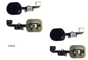 2x Haupt Knopf für iPhone 6 Menü Home Button Main Key Flex black schwarz