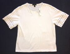 J Crew S White100% Cotton Shirt f0087 $65 NWT Tee Embroidered NEW!