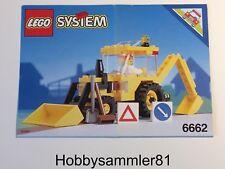 Lego® 6662 System Town Bauanleitung Backhoe - Bagger