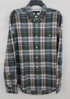Tommy Hilfiger Men's Custom Fit Plaid Shirt Blue/Pink 78B9437