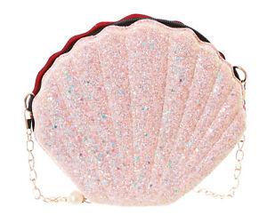 LB-180-1 Pink Clam Glitter Metallic Hologram Party Bag Lolita Pastel