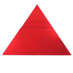 Mirrored Red Triangle Mosaic Wall Tiles (Several Sizes Available)