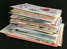 More details for old birthday greeting cards lot of vintage 1940's 50s 60s vgc 100 cards used