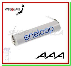 batteria ricaricabile 1,2v a saldare Eneloop pila ministilo AAA 750mAh lamelle U